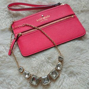 Kate Spade, hot pink wristlet, very good condition